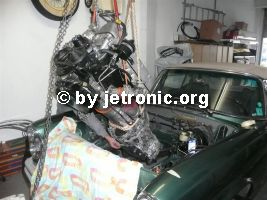 Motor mit Getriebe am Schwerlastkran